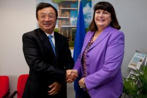 Máire Geoghegan-Quinn, Member of the EC in charge of Research, Innovation and Science, received Ren Zhengfei, CEO of the Huawei Technologies.
