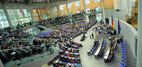 A view of the plenary chamber, German Bundestag/Unger