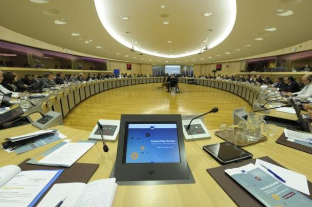 """A general view of the conference on the """"Connecting Europe Facility""""."""