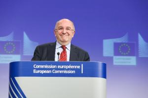 Joaquín Almunia, Vice-President of the EC in charge of Competition, gave a press conference on several decisions regarding business agreements and abuse of dominant position. 20/12/2012.