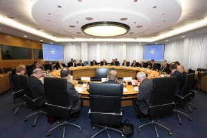ECB governing council room . (ECB photo library).