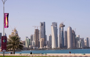 """Financial centre of Doha - Qatar. UNCTAD ministerial conference held in Qatar agreed on the """"Doha Mandate"""", focused on trade and development in the aftermath of the 2008-2009 economic and financial crisis. (UNCTAD photo library)."""