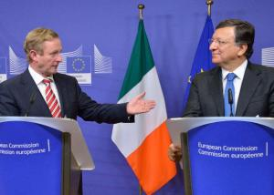 José Manuel Barroso, President of the EC (on the right) and the College of the EC hosted a delegation from the Irish Government led by Enda Kenny, Irish Prime Minister. Discussions focused on the Irish Presidency of the Council of the EU, as from January 2013. (EC Audiovisual Services).