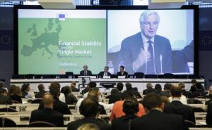 Participation of Michel Barnier, Member of the EC in charge of Internal Market and Services at the 'Financial Stability and the Single Market - The Keys to Growth in Europe' conference. (EC Audiovisual Services).
