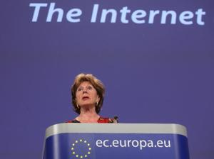 Press conference by Neelie Kroes, Vice-President of the EC, on the Net Neutrality. (EC Audiovisual Service)