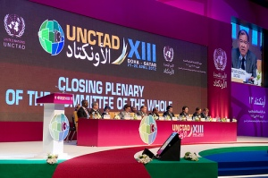 Committee of the Whole Closing Plenary session of UNCTAD's conference in Doha-Qatar (21-26 April 2012). (UNTAND's photo library).