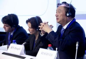 "Kai-Uwe Kühn, Director and Chief Economist of DG ""Competition"" of the European Commission, Agnete Gersing, Director General of the Danish Competition and Consumer Authority, and Ren Zhengfei, CEO of the Huawei Technologies (from left to right) (EC Audiovisual Services)."