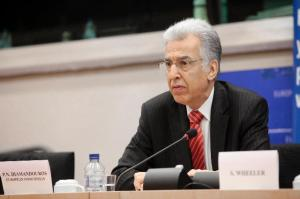 The European Ombudsman, P. Nikiforos Diamandouros. (EC Audiovisual Services).