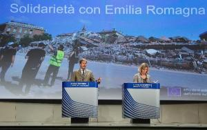 Commissioner Johannes Hahn on the left, announcing a proposal to allocate €670 million to Italy following two severe earthquakes and hundreds of aftershocks in the region of Emilia-Romagna during May/June 2012. (EC Audiovisual Services).