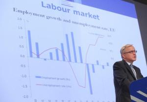 Press conference by Olli Rehn, Member of the European Commission, on the spring economic forecasts for 2012-2013. (EC Audiovisual Services).