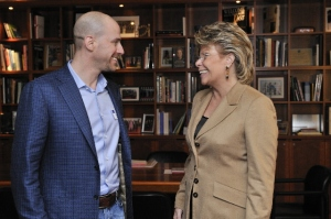 Viviane Reding, Vice President of the EC and Josh Silverman, former President of Skype.