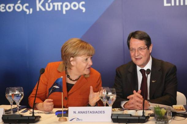 Angela Merkel, German Federal Chancellor, on the left, and Nicos Anastasiades Cypriot President. (EC Audiovisual Services).