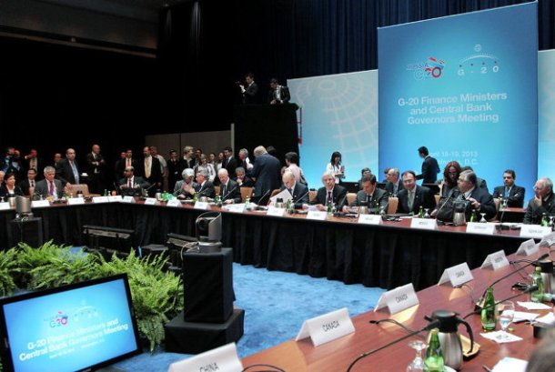G20 Finance Ministers and Central Bank Governors met in Washington on April 18. (G20 photographic library).