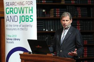 Participation of Johannes Hahn and László Andor, Members of the European Commission, at the conference on searching for growth and jobs in times of austerity measures in the EU. (EC Audiovisual Services).