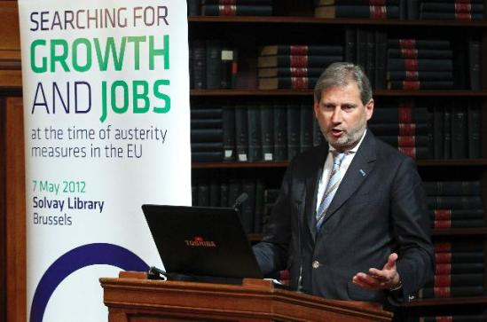 Participation of Johannes Hahn, Member of the European Commission in charge of Regional Policy, at the conference on searching for growth and jobs in times of austerity measures in the EU, (EC Audiovisual Services).