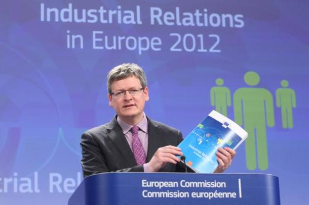 László Andor, Member of the EC in charge of Employment, Social Affairs and Inclusion, gave a press conference following the publication of the EC report on industrial relations. According to the report, the ongoing economic crisis poses a serious challenge to the dialogue between workers' and employers' representatives. The report shows that recent government reforms have not always been accompanied by fully effective social dialogue, leading to increasingly conflictual industrial relations in Europe. (EC Audiovisual Services, 11/04/2013).