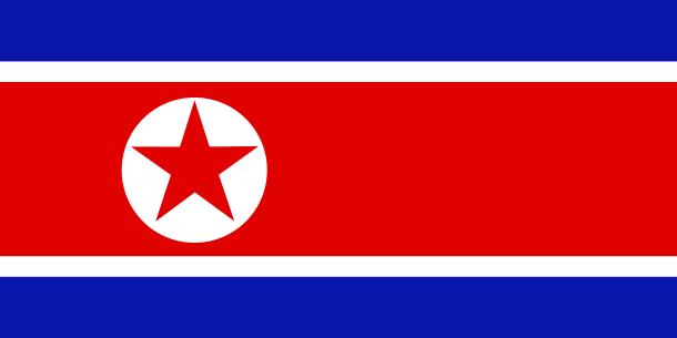 Flag of North Korea or Democratic People's Republic of Korea (DPRK)