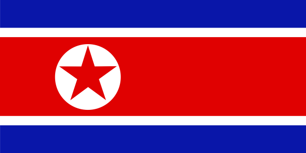 Flag of North Korea or Democratic People's Republic of Korea (DPRK)