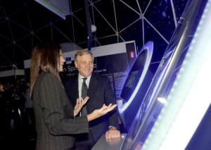 """Opening of the travelling exhibition """"European Space Expo"""" with the participation of Antonio Tajani, Vice-President of the  European Commission, in Brussels. (EC Audiovisual Services)."""