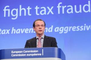 Press conference by Algirdas Šemeta, Member of the European Commission, on a comprehensive package to strengthen the fight against tax evasion and aggressive tax planning in the EU. (EC Audiovisual Services).