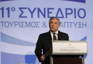 Antonio Tajani, Vice-President of the EC in charge of Industry and Entrepreneurship, travelled to Athens, where he attended the conference organised by the Association of Greek Tourism Enterprises (SETE). (EC Audio Visual Services).