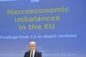 Press conference by Olli Rehn, Vice-President of the EC, on the in-depth reviews of macroeconomic imbalances in 13 Member States, (EC Audiovisual Services, 10/04/2013).