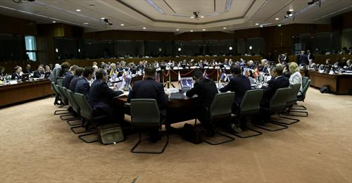 General view of the meeting room of the Ecofin Council, regrouping the 27 EU ministers of Finance, (EC Audiovisual Services, 14/5/2013).