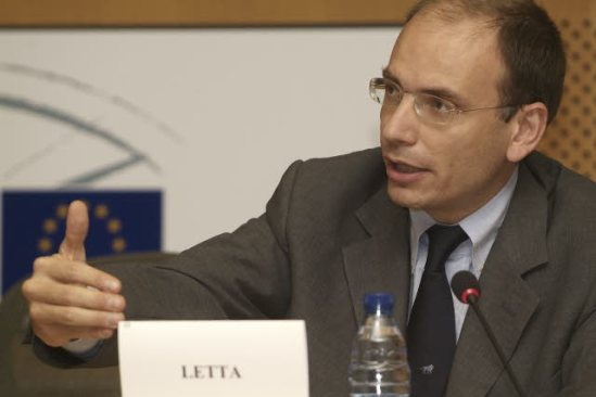 Enrico Letta, the new Italian Prime Minister as a member of the Italian Parliament, participated in a legislators meeting in the European Parliament (European Parliament Audio-visual Services).