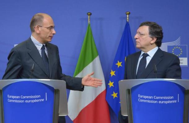 José Manuel Barroso, President of the European Commission, received Enrico Letta, Italian Prime Minister. During the press conference the President highlighted that the launch of this new phase in Italian politics and the start of work by the new government came at a crucial time for European integration. (EC Audiovisual Services, 02/05/2013).