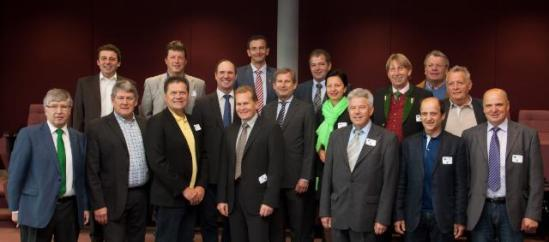 Johannes Hahn, Member of the EC in charge of Regional Policy, received a delegation of happy Mayors from Salzburg. This European region is blessed with the lowest unemployment rate in the EU. (EC Audiovisual services, 14/05/2013).