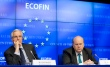 Michel Barnier, Member of the European Commission, Michael Noonan, Irish Minister for Finance and President of the Ecofin Council (from left to right). (EU Council photographic library 14/05/2013).