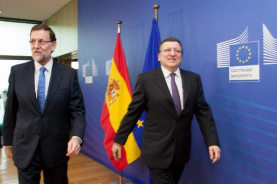 José Manuel Barroso, President of the EC, received Mariano Rajoy Brey, Spanish Prime Minister. Spain and Greece both suffer of unemployment rates of up to 27%. (EC Audiovisual Servisec, 05/06/2013 ).