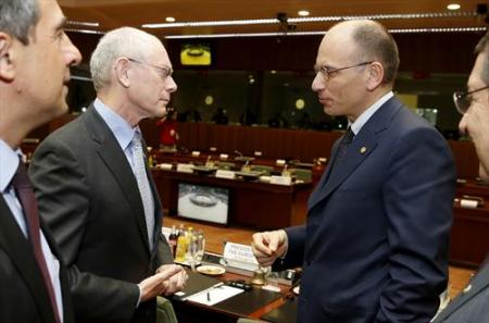 European Council meeting 22/5/2013: Herman Van Rompuy, President of the European Council, Enrico Letta, Italian Prime Minister From (from left to right). (European Council photographic library).