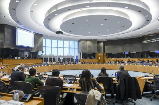 "EU Parliament BUDG DEVE committee meeting: ""How can the EU deliver better aid? Unlocking innovation and optimizing European resources: innovative methods and strategic alliances to leverage European added value. (EU Parliament photographic library)."