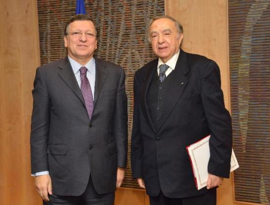José Manuel Barroso, President of the European Commission received Habib Ben Yahia, Secretary General of the Arab Maghreb Union (AMU). (EC Audiovisual Services).