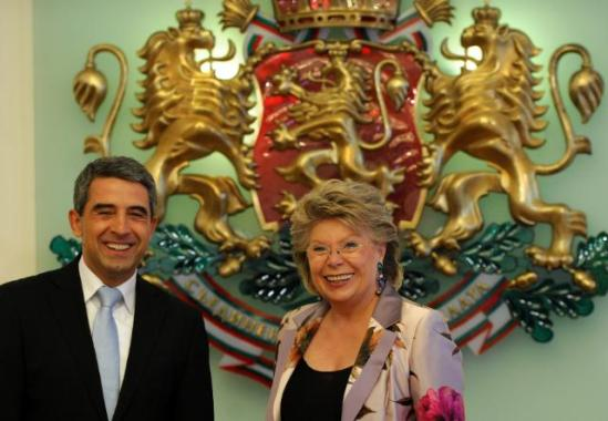 Viviane Reding, Vice-President of the EC in charge of Justice, Fundamental Rights and Citizenship, went to Sofia where she met with Rosen Plevneliev, President of Bulgaria (22/07/2013). After returning from Sofia, Reding announced the initiative for a seamless patent registration and protection legal environment in 25 EU countries, (EC Audiovisual Services).