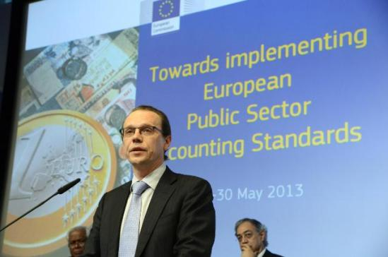 Algirdas Šemeta, Member of the European Commission in charge of Taxation and Customs Union, Audit and Anti-Fraud, participated in the conference entitled 'Towards implementing European Public Sector Accounting Standard', which was organised in Brussels by Eurostat, on 29 and 30 May 2013, (EC Audiovisual Services).
