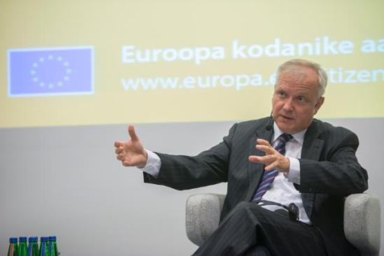 Olli Rehn, Vice-President of the European Commission in charge of Economic and Monetary Affairs and the Euro, went to Tallinn the capital of Estonia where he participated in a debate about the future of Europe. (EC Audiovisual Services).