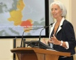 Christine Lagarde, Managing Director of IMF, is giving a speech at National Bank of Romania, Romania, July 16, 2013. (IMF's Audiovisual Services).