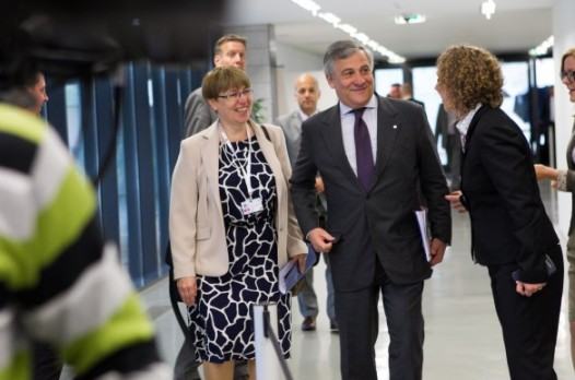 Antonio Tajani, European Commission Vice President responsible for Industry and Entrepreneurship heading for the EU Competitiveness Council. (Lithuanian Council Presidency photographic library, 26.09.2013).