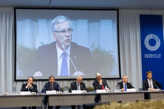 EU Finance Ministers and Central Bank Governors focussed their attention on the Banking Union, financing SMEs and the EU economic outlook on the first day of the Informal ECOFIN meeting in Vilnius. (Lithuanian Council Presidency , photographic library 14/9/2013)