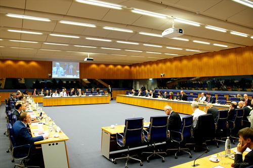 Eurogroup meeting of 15/10/2013 in Luxemburg. (Council of the European Union photographic library).