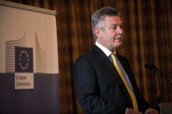 Karel De Gucht, Member of the European Commission participates at an event on the TTIP. (EC Audiovisual Services).