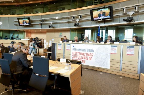 European Parliament, Brussels. Committee on Civil Liberties, Justice and Home Affairs (LIBE) meeting - 4th NSA inquiry hearing. (EP Audiovisual Services, 30/09/2013).