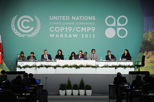 Warsaw, Poland. 19th session of the Conference of the Parties participating in the UN Framework Convention on Climate Change 18-22 November 2013. (UN climate change).