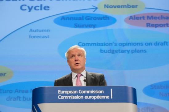 Press conference by Olli Rehn, Vice-President of the European Commission, on the Autumn Fiscal Package 2013. (EC Audiovisual Services, 15/11