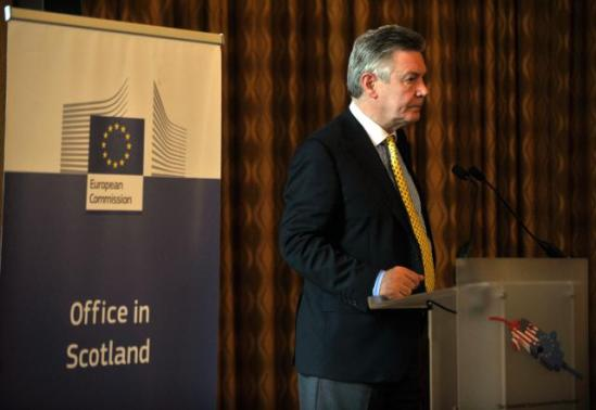 Karel De Gucht, Member of the EC in charge of Trade, went to Edimburgh to participate in the celebrations organised in preparation for the next Ryder Cup. He also participated in an event on the theme of the Transatlantic Trade and Investment Partnership (TTIP), which was organised by the Confederation of British Industry (CBI), in Scotland. (EC Audiovisual Services).