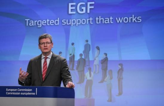 László Andor, Member of the European Commission in charge of Employment, Social Affairs and Inclusion, gave a press conference following the report adopted on the same day by the EC European Globalisation Adjustment Fund (EGF). (EC Audiovisual Services 14/11/2013).