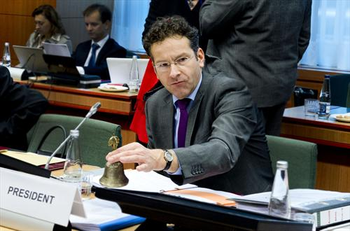Jeroen DijsselbIoem, President of the Eurogroup. (Council of the European Union, 9/12/2013).