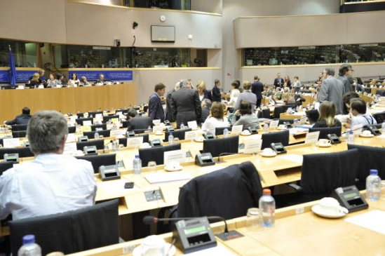 European Parliament. Committee on Economic and Monetary Affairs ( ECON). Meeting on mortgage credits. (European Parliament Audiovisual Services).